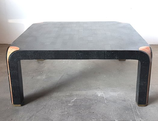 Hollywood Regency Tesselated Coffee Table From Maitland Smith 1980s