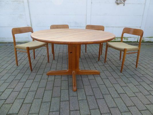 Danish Oak Dining Table And Chairs Set By Niels Otto N O Møller 1960s