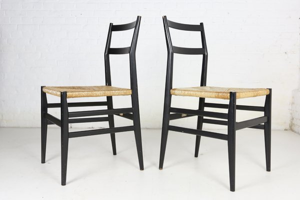 Italian Dining Chairs By Gio Ponti For Cassina, 1960s, Set Of 6 1