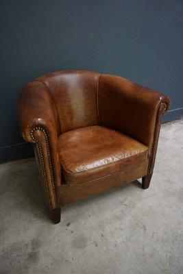 Dutch Vintage Cognac Colored Leather Club Chair 2