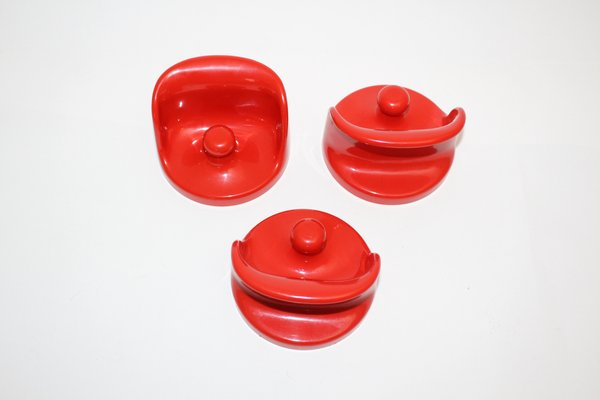 Red wall hooks by olaf von bohr for kartell s set of for