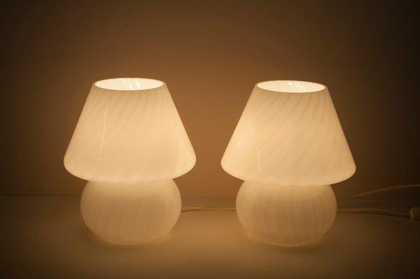 Mushroom Table Lamps By Paolo Venini 1960s Set Of 2 Bei Pamono Kaufen