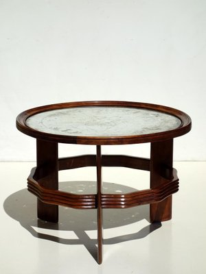 Beau Vintage Italian Art Deco Coffee Table By Vittorio Valabrega 1