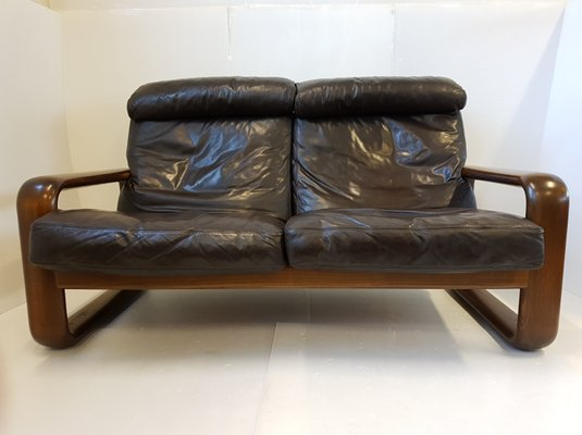 Hombre Leather Sofa By Burkhard Vogtherr For Rosenthal 1970s 1