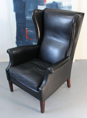 Vintage Danish Wingback Chair from Aarhuspool 2 & Vintage Danish Wingback Chair from Aarhuspool for sale at Pamono