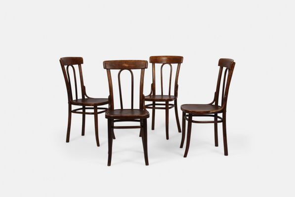 vintage bentwood chairs set of 4 for sale at pamono