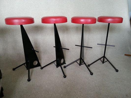 Sgabelli da bar in ferro francia anni set di in vendita