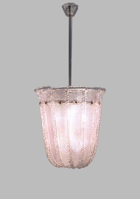 Pink Murano Gl Pendant Light From Venini 1940s 1
