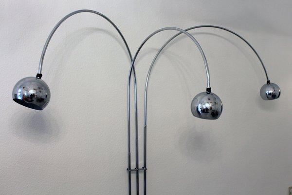 Vintage Italian Arc Floor Lamp By, Vintage Silver Floor Lamp