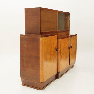 Credenza con vetrina, Italia, anni \'30 in vendita su Pamono