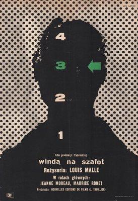 Polnisches Vintage Ascenseur Pour Lechafaud Plakat Von Jan Lenica