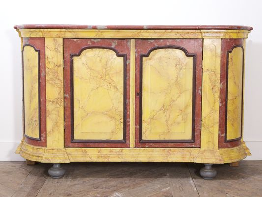 Antique Marbled Side Cabinet, 1880s 1 - Antique Marbled Side Cabinet, 1880s For Sale At Pamono