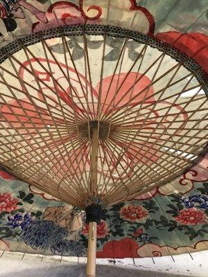 Divisori In Carta Di Riso.Ombrello Vintage In Carta Di Riso Giappone