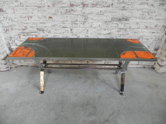 Tavolino da caffè con mattonelle belgio anni in vendita su