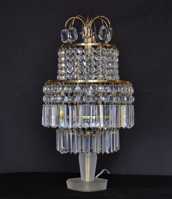 Vintage Crystal Table Lamp From Gablonz For Sale At Pamono