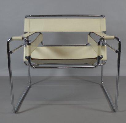 Chaise Wassily Par Marcel Breuer Pour Knoll Inc 1980s 1
