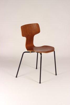 Dänischer T Chair Oder Hammer Chair Von Arne Jacobsen Für Fritz