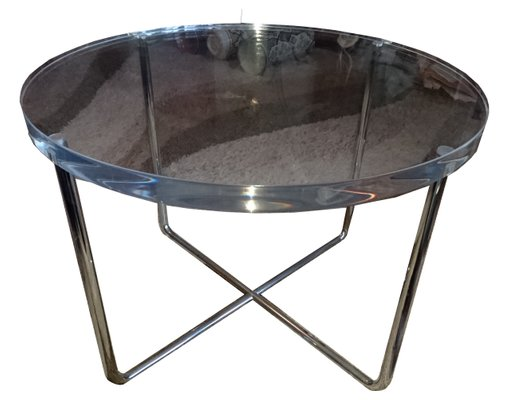 Design Bank Minotti.Vintage Italian Lucite And Steel Coffee Table By Rodolfo Dordoni For Minotti