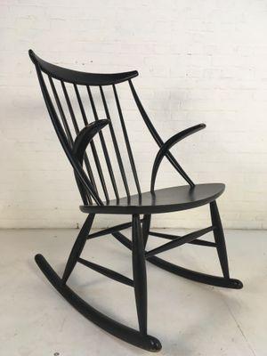 Vintage Danish Rocking Chair By Illum Wikkelso For N. Eilersen, 1958 7