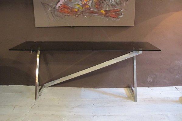 Consolle in vetro di Romeo Rega, anni \'70 in vendita su Pamono