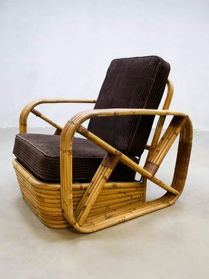 Vintage Rattan Lounge Chair By Paul, Paul Frankl Rattan Furniture