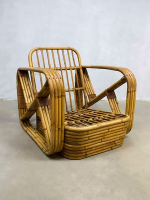 Vintage Rattan Lounge Chair By Paul Frankl, 1940s 2