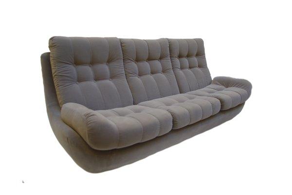 Vintage Velvet Sofa 1970s 1