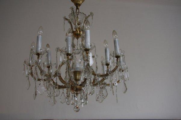 Lampadario Antico Murano : Lampadario antico in cristallo in vendita su pamono