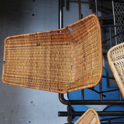Vintage Rattan Chairs, 1960s, Set Of 5 6