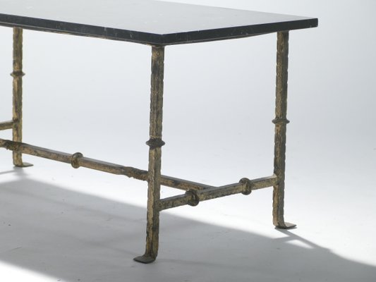 Charmant French Wrought Iron Coffee Table, 1940s 8