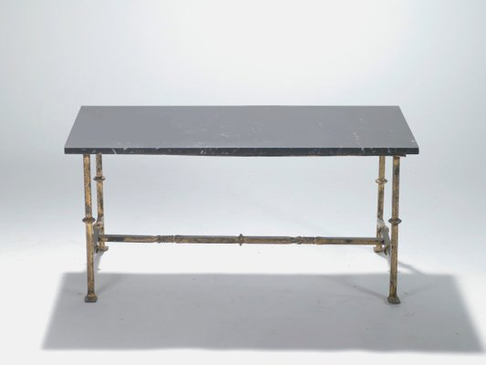 French Wrought Iron Coffee Table, 1940s