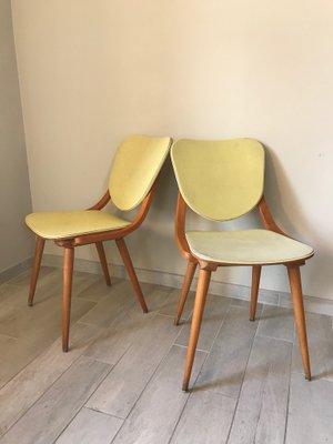 Sedie In Legno Anni 50 60.Sedie Vintage In Legno Curvo Anni 50 Set Di 2 In Vendita Su Pamono