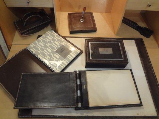 Set di accessori da scrivania di p dupré lafon hermès anni