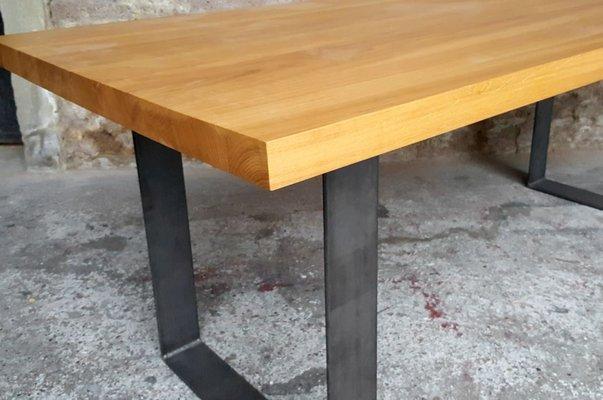 Tavolo Da Pranzo Industriale : Tavolo da pranzo vintage industriale in legno di quercia massiccio
