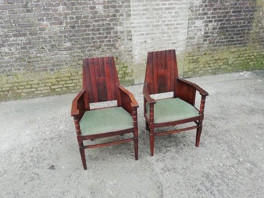 Qxcoewrdbe Set Antike Der Amsterdamer Schule1910er2er Stühle IWE2YDeH9