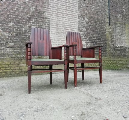 Antike Stuhle Der Amsterdamer Schule 1910er 2er Set Bei Pamono Kaufen