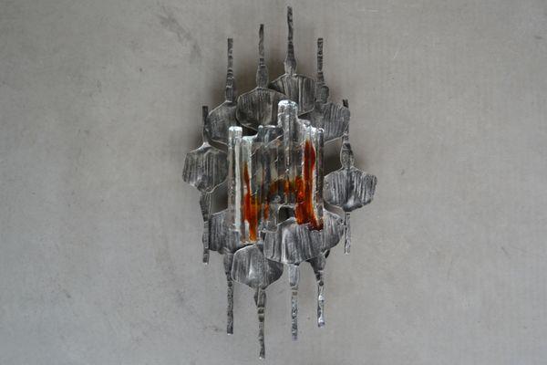 Applique lampadario da parete in vetro soffiato murano venezia