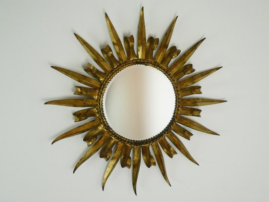 Mid Century French Sunburst Mirror 1