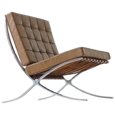 barcelona lounge chair by mies van der rohe for knoll inc 1960s for