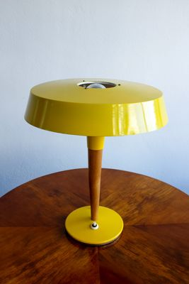 Yellow Table Lamp From Kamenický Šenov, 1960s 1