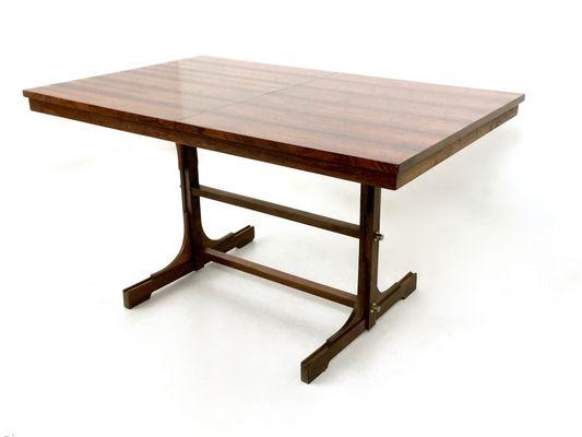 Tavolo da pranzo allungabile in mogano, anni \'60 in vendita su Pamono