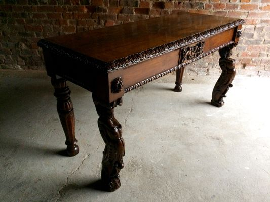 antique hall table. Wonderful Antique Antique Gothic Victorian Hall Table 2 Intended C