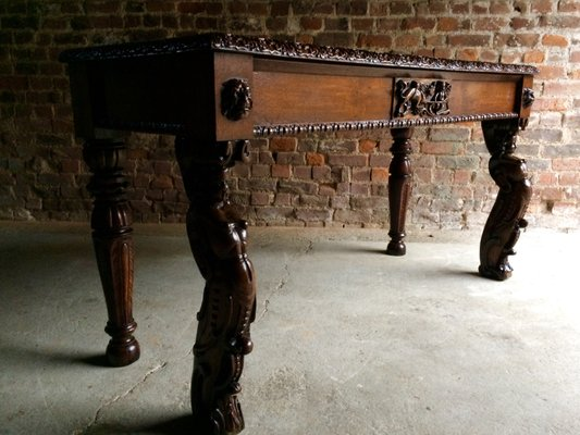 Mesa De Recibidor Gótica Victoriana Antigua, Imagen 1