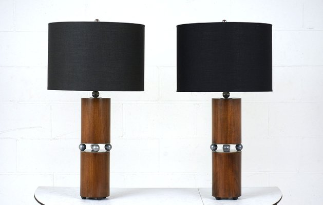 Mid Century Modern Table Lamps Set Of 2 For Sale At Pamono