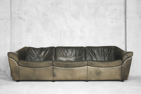 Vintage Danish Buffalo Leather Sofa By Berg Furniture 1970s 1