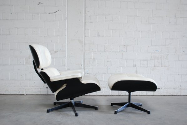 mid century lounge chair ottoman by charles ray eames for vitra