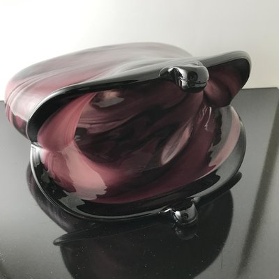 Vintage Murano Glass Coin Purse Shaped Vase For Sale At Pamono
