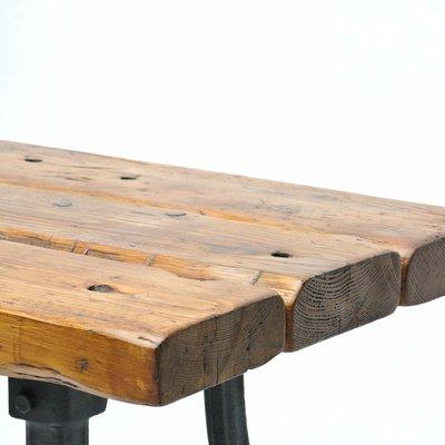 Vintage Holz Werkbank Mit Beinen Aus Gusseisen Bei Pamono Kaufen