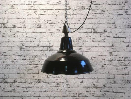 Lampada Vintage Industriale : Lampada vintage industriale in metallo e porcellana anni in