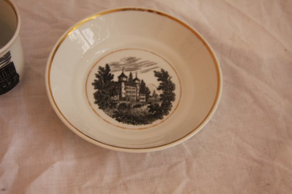 Antique Schlaggenwald Cup with Saucer from Lippert & Haas